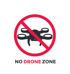 No drone zone restrictive sign vector