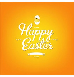 Happy Easter Orange Card vector image