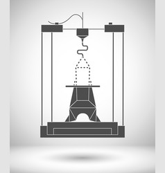 3d modeling and scanning technology printing icon vector image vector image