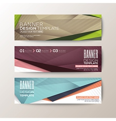 modern design banners abstract triangle polygon vector image