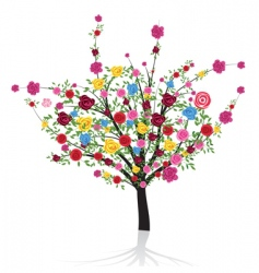 Flower tree vector