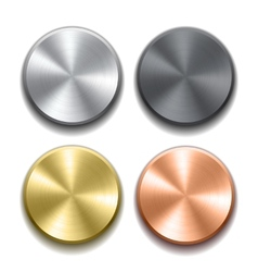 Realistic metal buttons vector