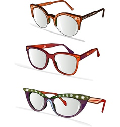 Funky glasses vector
