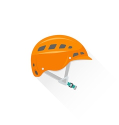 Color alpinism equipment helmet icon vector