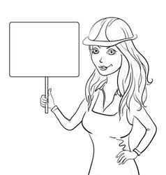 girl worker vector image