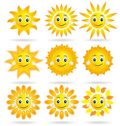 collection of suns vector image