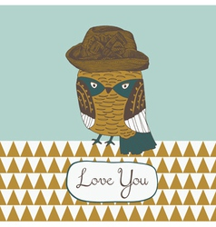 i love you owl vector image