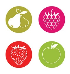 Fruit pictograms vector