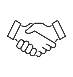 Handshake icon vector