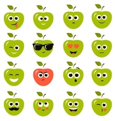 Apple smiley faces vector