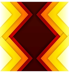 Abstract red and orange triangle shapes background vector image