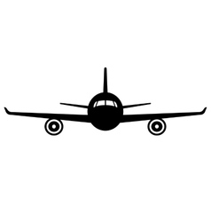 airplane icon Front view flying aircraft vector image vector image