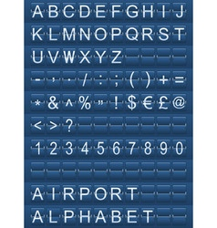 airport alphabet blue vector image