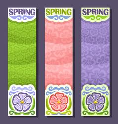 Banners for spring season vector