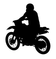 Black silhouettes sport bike on white background vector image