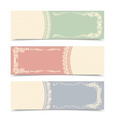 Blank decorative banners vector image vector image