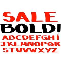 Bold handwritten alphabet vector