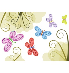 Butterfly backgrounds vector image vector image