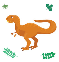 Cartoon dinosaur isolated vector