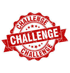 challenge stamp sign seal vector image