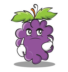 Confused grape character cartoon collection vector