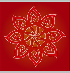 decorative and tribal ornament for design vector image vector image