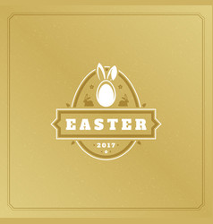 easter greeting card text template and badge vector image