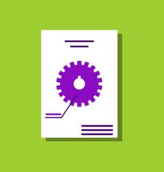 Flat icon design collection car gear scheme in vector