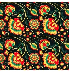 Floral seamless pattern in slavonic style vector