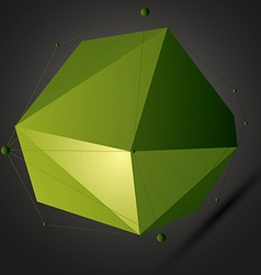 Geometric bright polygonal structure with lines vector image vector image
