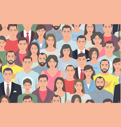 Group of people seamless pattern vector