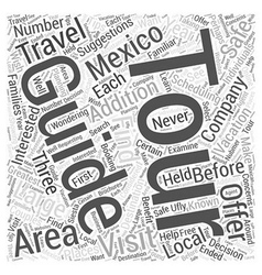 Guided tours in mexico word cloud concept vector
