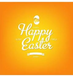 Happy Easter Orange Card vector image vector image