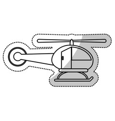 Helicopter business transport cut line vector