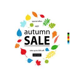 Hello autumn sale vector