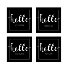 Hello to the Four Seasons Winter Spring Summer vector image vector image
