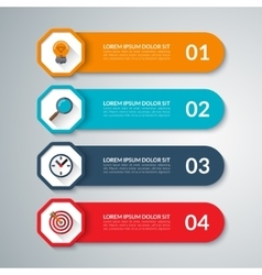 Infographic elements template with 4 steps vector image