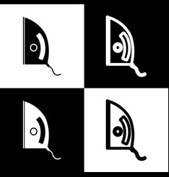 Iron sign black and white icons and line vector