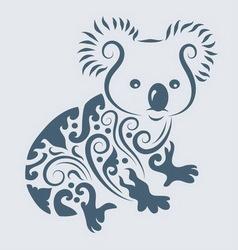 Koala ornament vector