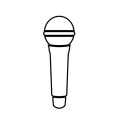 microphone black color icon vector image vector image