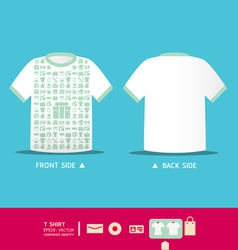 Modern soft color t-shirt design vector image vector image