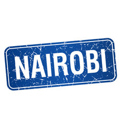 Nairobi blue stamp isolated on white background vector