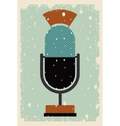 old microphone poster isolated icon design vector image