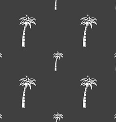 Palm sign Seamless pattern on a gray background vector image