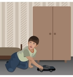 Playing Boy In The Room vector image vector image