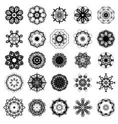 Set of different rosette vector