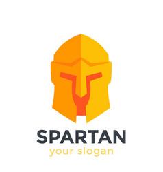 spartan helmet logo element in flat style vector image