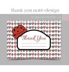 Thank you note - cookie from wonderland vector