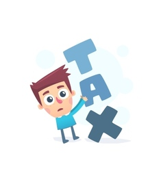 Too high taxes vector image vector image