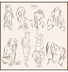 womens fashion vector image
